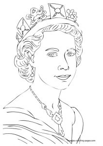 Royal Family Uk Elizabeth Coloring Pages