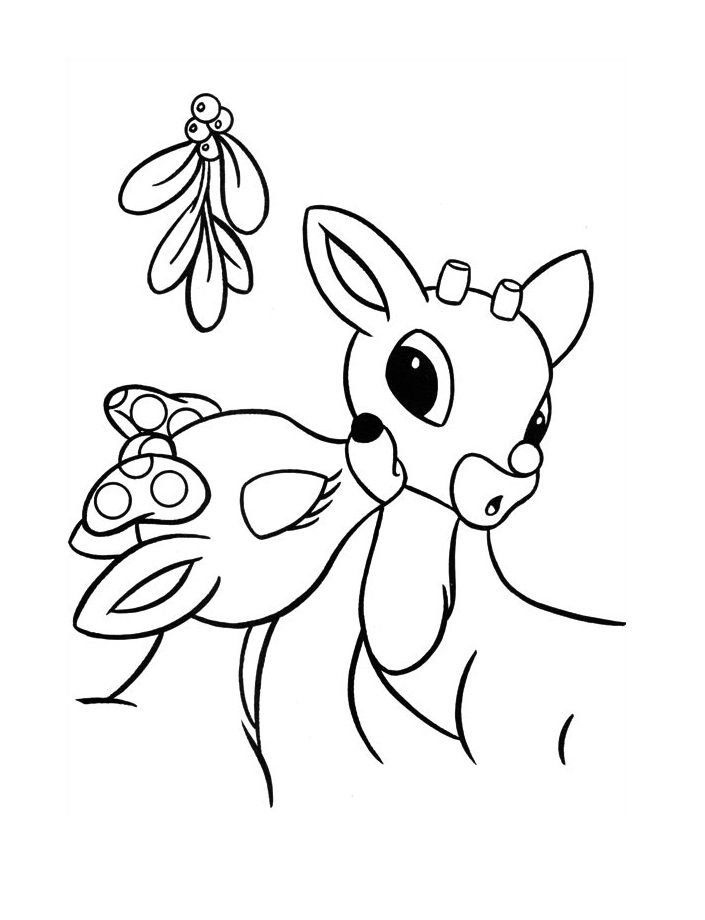 Rudolph Coloring Pages For Kids