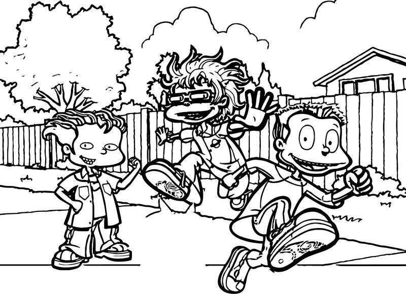 Rugrats All Grown Up All Grown Up Street Coloring Page