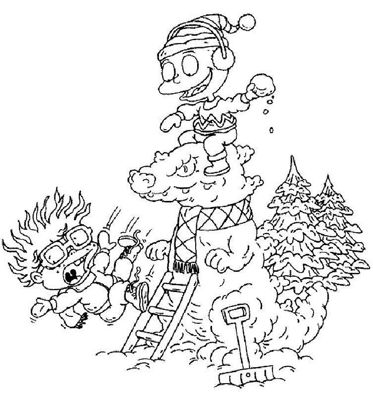 Rugrats Christmas Coloring Pages