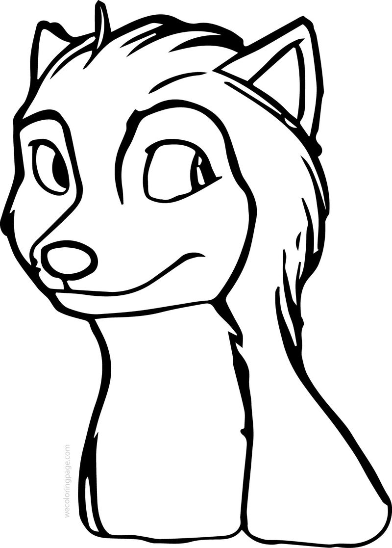 Runt Alpha And Omega Wolf Coloring Page