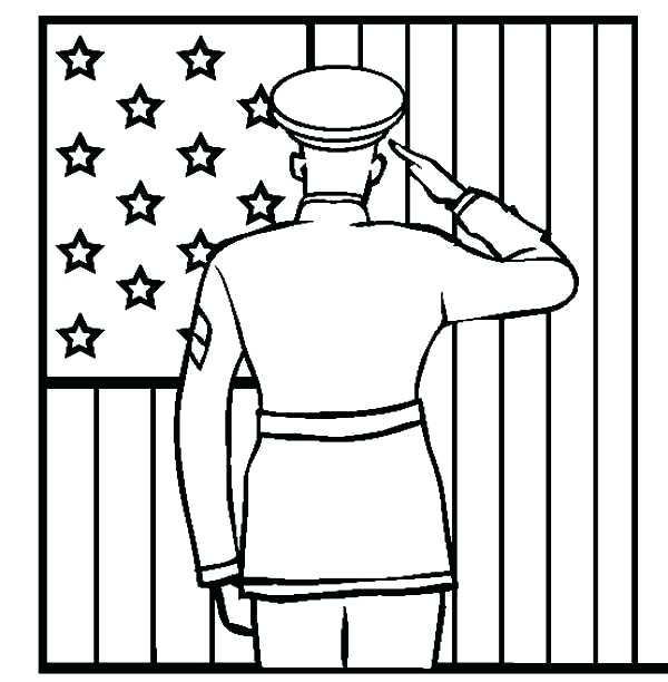 Salute On Patriot Day Coloring For 9 11