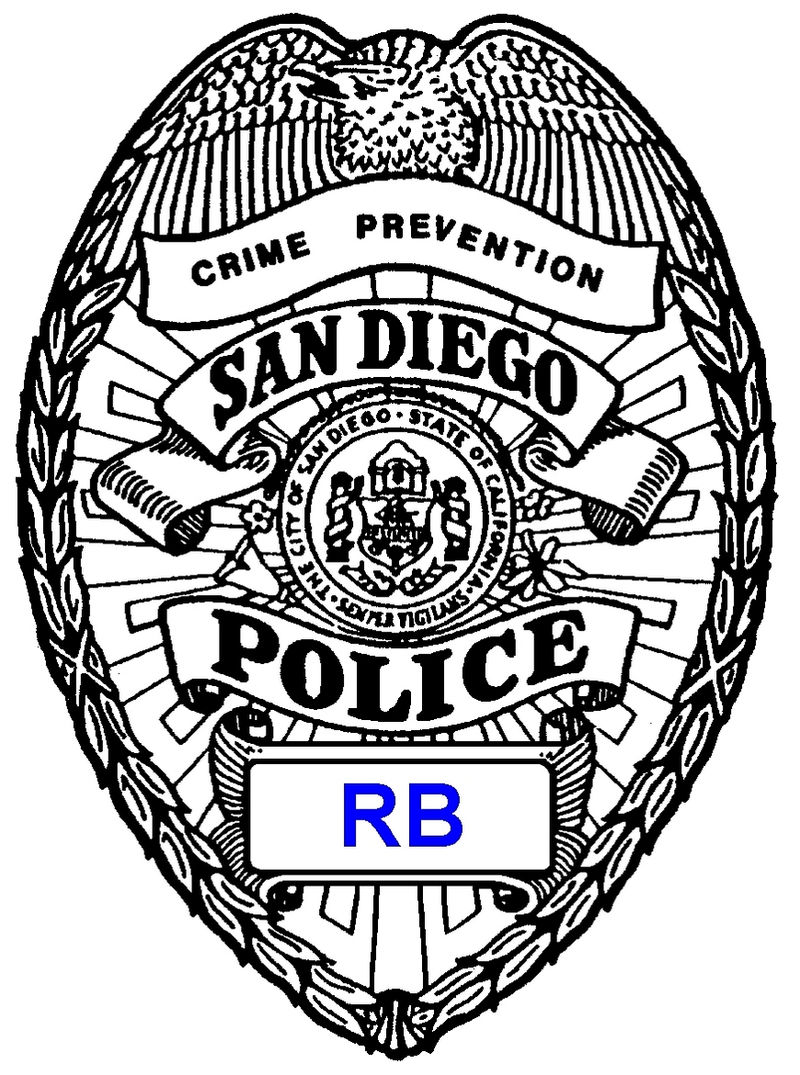 San Diego Police Badge Coloring Page