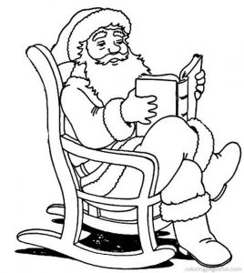 Santa claus chritsmas coloring page for preschoolers