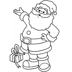 Santa coloring pages 001