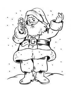 Santa coloring pages online