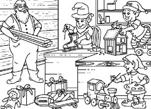 Santas workshop coloring pages