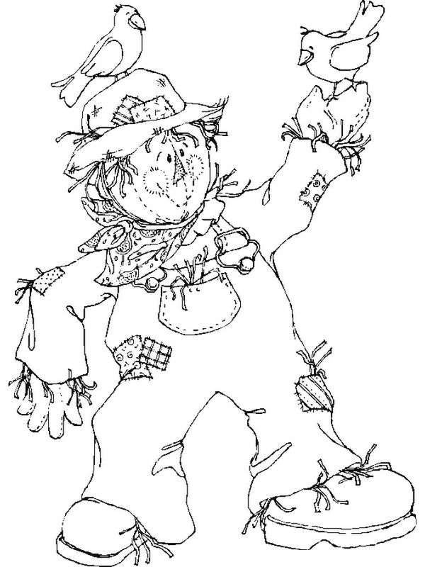 Scarecrow Coloring Pages For Kids 001
