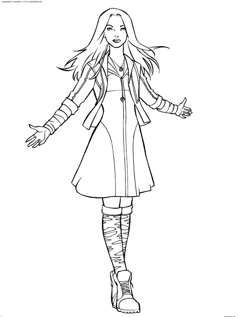 Scarlet Witch Avengers Coloring Pages