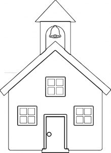 School building free coloring page