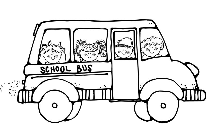 School Bus Coloring Page Printable 001