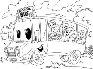 School bus coloring pages printable 001