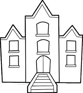 School hi coloring page