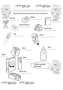 School kid worksheets picture