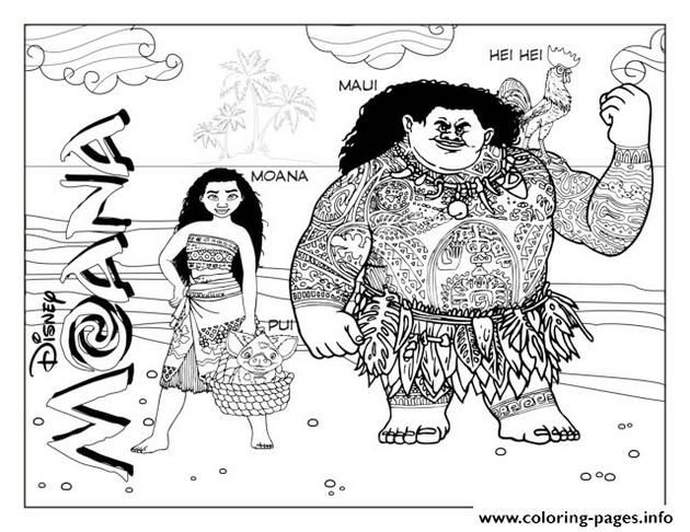 Searching For Moana Coloring Page