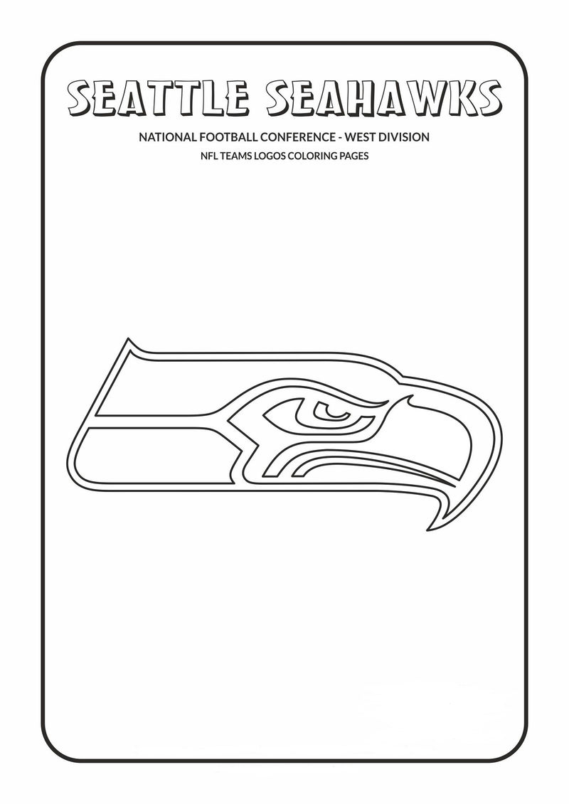 Seattle Seahawks Coloring Pages Template