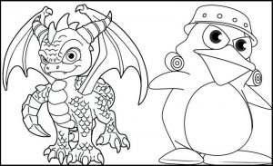 Sergeant byrd and spyro coloring page