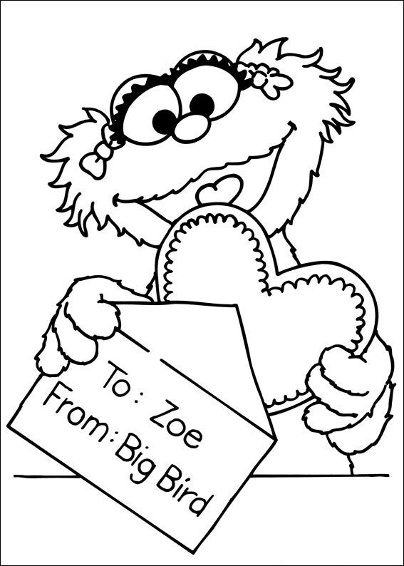 Sesame Street Characters Coloring Pages 001