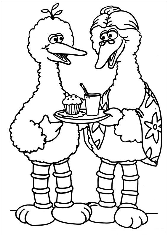 Sesame Street Color Pages 001