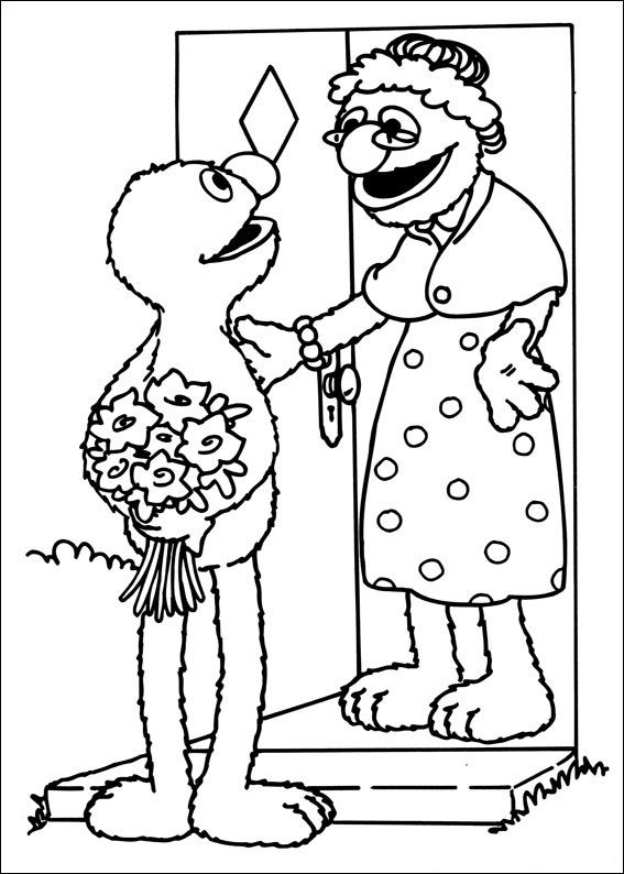 Sesame Street Coloring Page 001