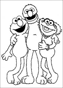 Sesame street coloring pages 001