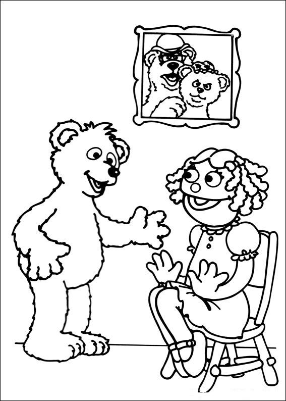 Sesame Street Coloring Pages Free 001