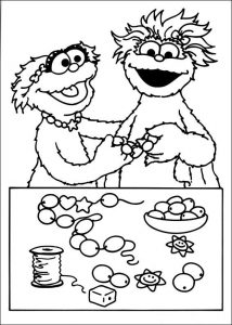 Sesame street coloring pages numbers 001