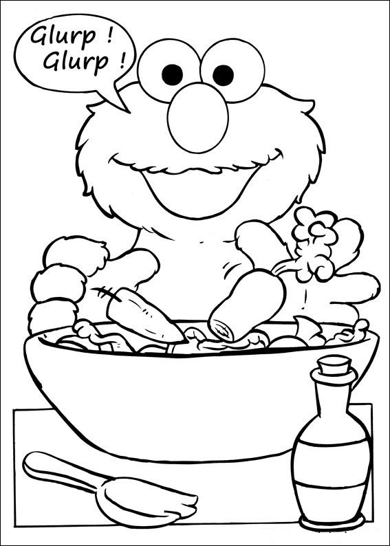 Sesame Street Coloring Pages Photos 001