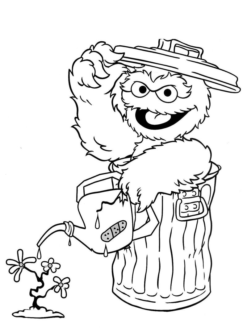 Sesame Street Elmo Coloring Pages 001