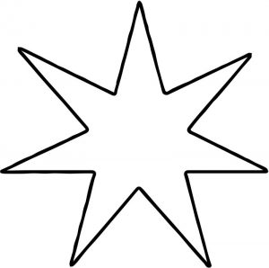 Seven corner happy star coloring page