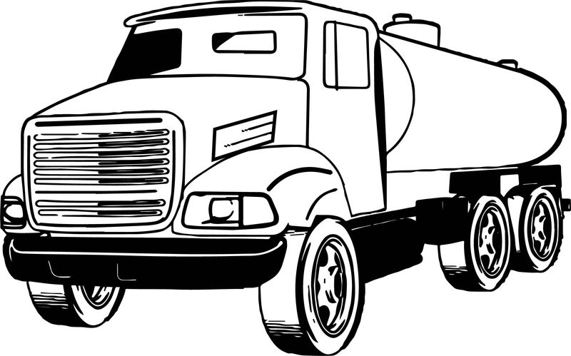 Sewage Pumper Truck Coloring Page