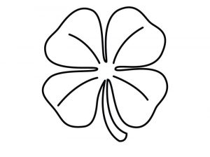 Shamrock coloring pages for kids 001