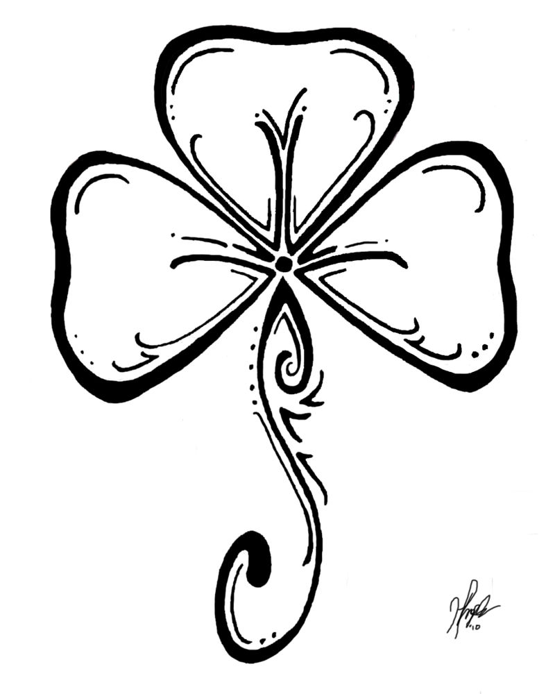 Shamrock St Patricks Day Coloring Page