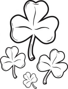 Shamrocks st patricks day coloring page