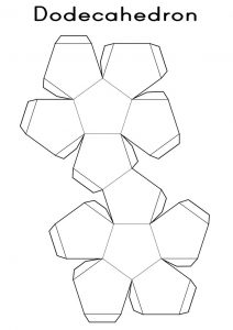 Shape nets printable 3d geometry dodecahedron