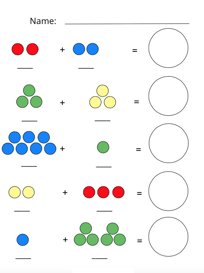 Shapes And Numbers Addition