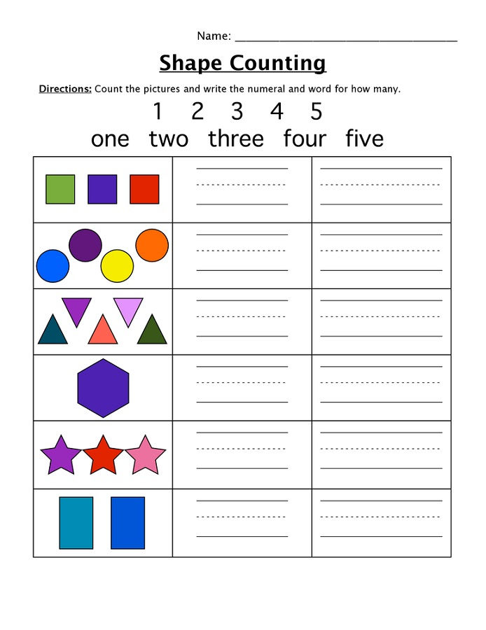 Shapes And Numbers For Kids