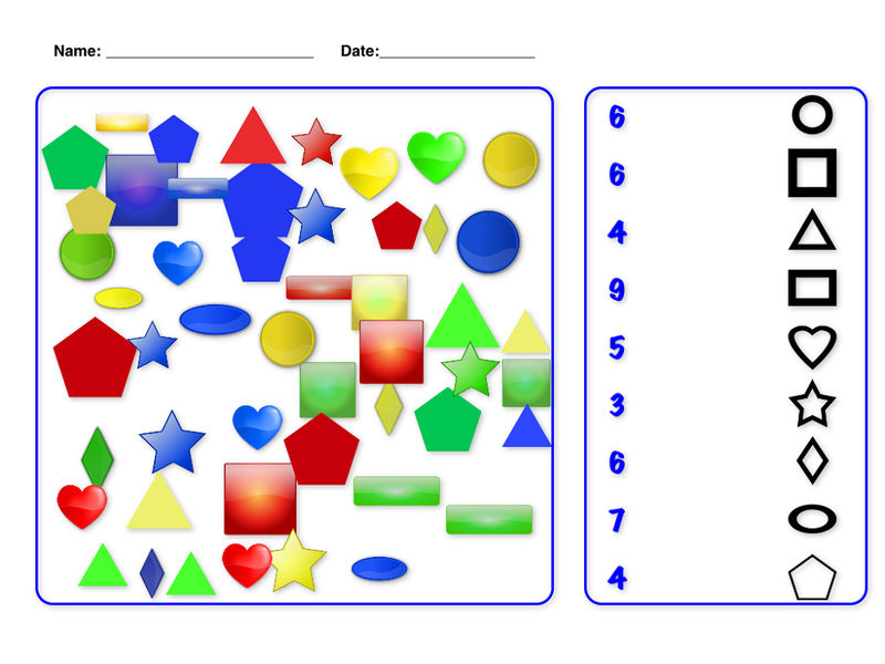 Shapes And Numbers Worksheet
