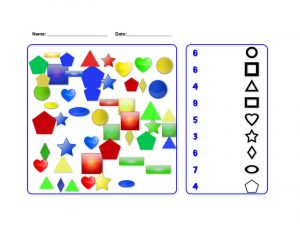Shapes and numbers worksheets counting