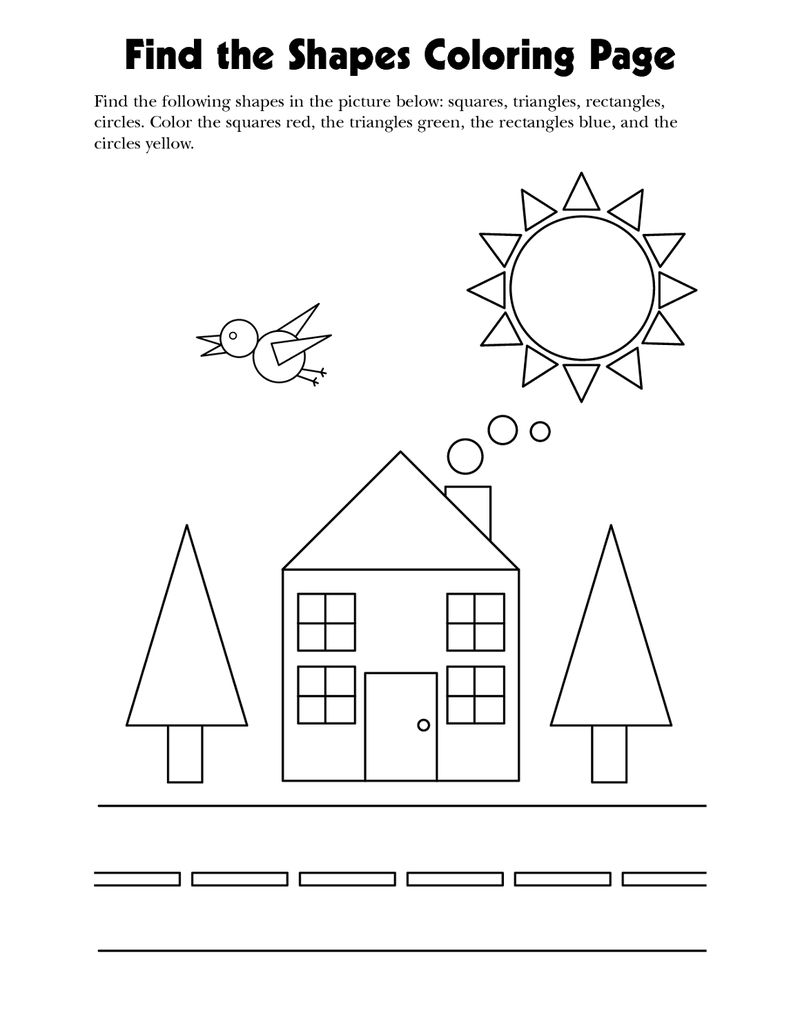 Shapes Worksheets For Kids Finding