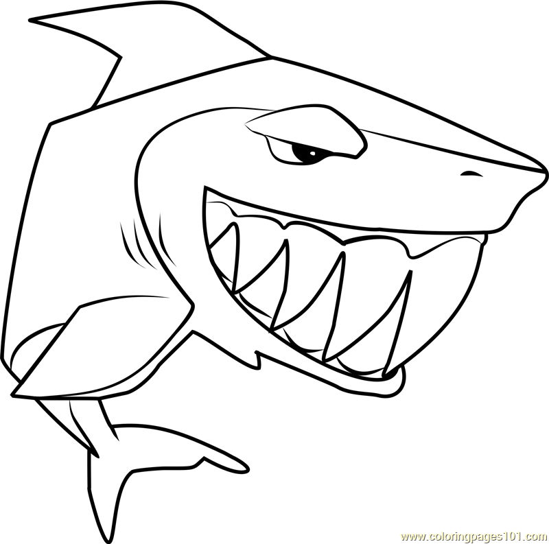 Shark Animal Jam Coloring Pages