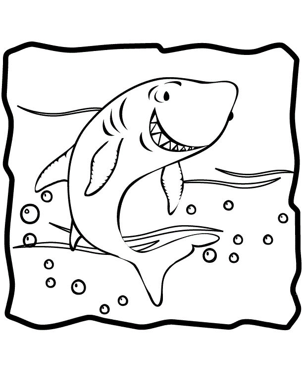 Shark Coloring Pages Kids