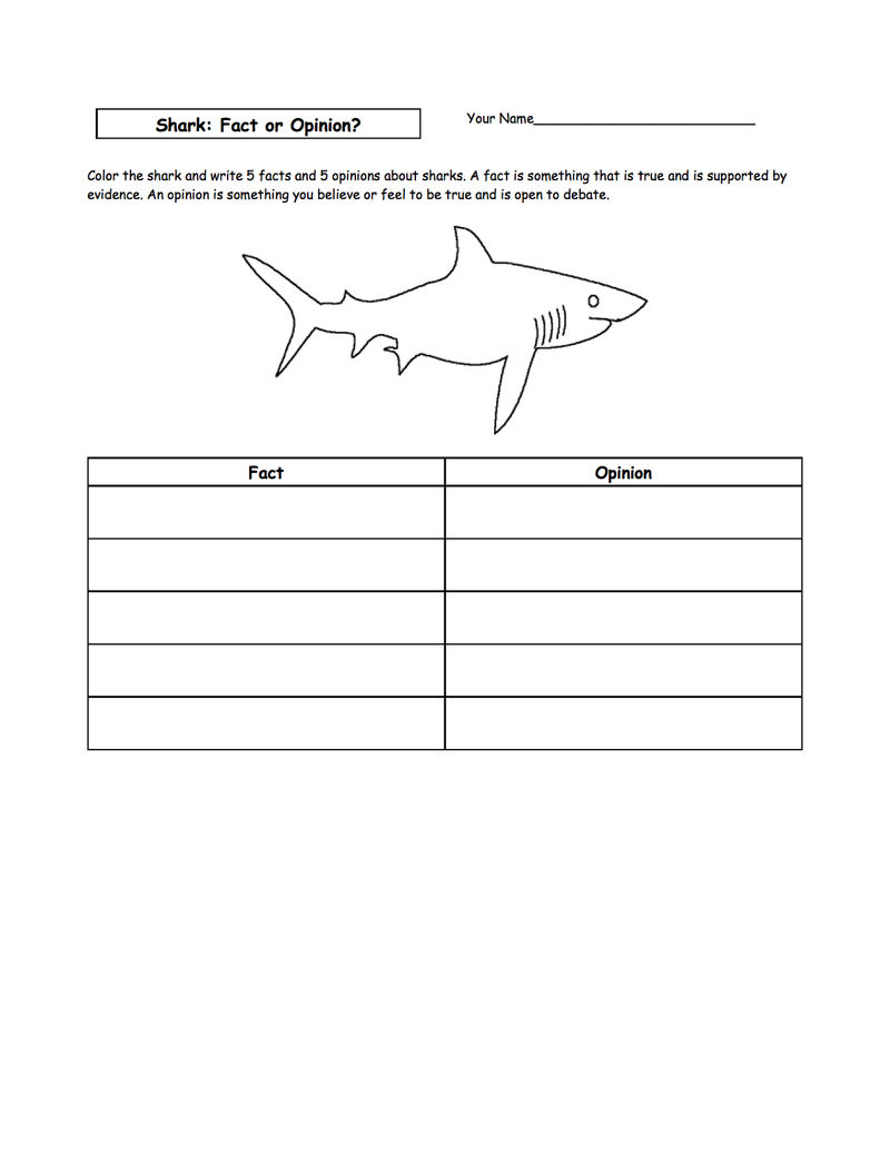 Shark Sheets For Kids Page