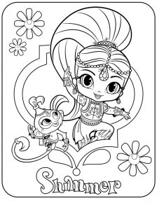 Shimmer spring time coloring page