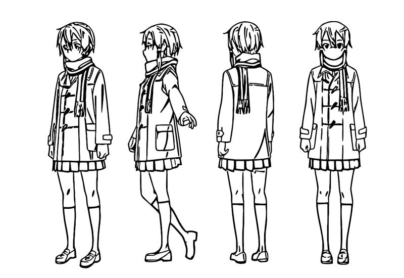 Shino Character Design Cartoonize Coloring Page