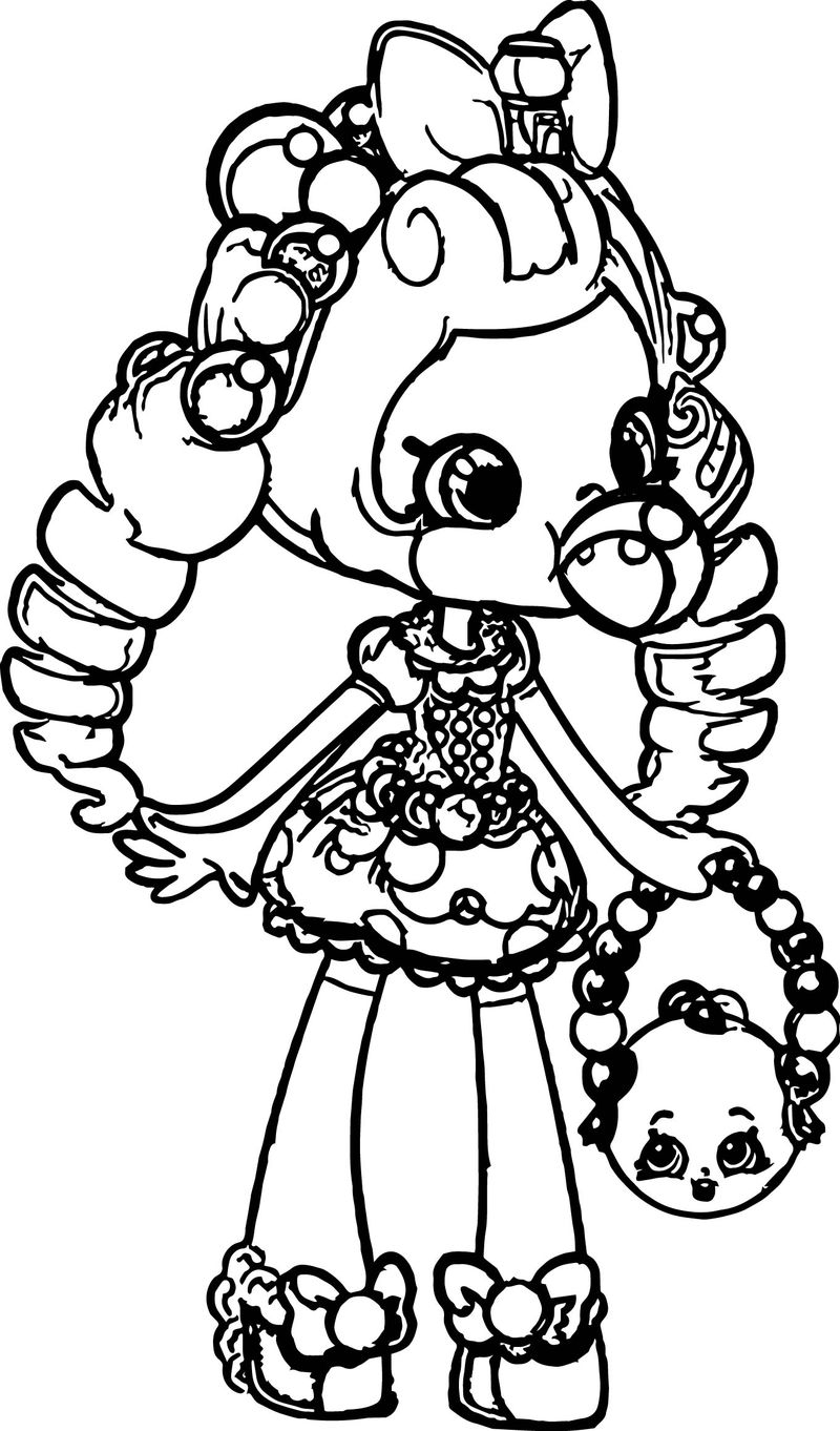 Shopkins Balloon Girl Coloring Page