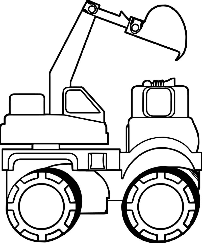 Side Bulldozer Truck Coloring Page