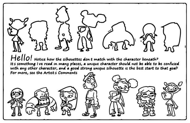 Silhouettes Character Design Necrofuckup Cartoonize Coloring Page