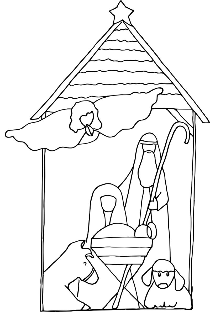Simple Baby Jesus Coloring Pages 001