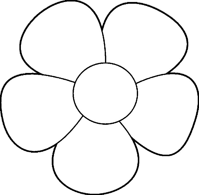 Simple Flower Design Coloring Page